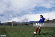 CloseUp Of Michel Platini En France en juin 1984 Michel PLATINI footballeur portant le maillot de l'équipe de France frappant dans le ballon lors... Michel Platini, Close Up, Running, Sports, 1984, June, Hs Sports, Keep Running, Why I Run