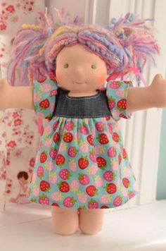 Adorable handmade Bamboletta dolls.  Precious!