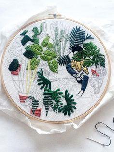 La broderie botanique de Sarah K. Benning - Mmaplantemonbonheur.fr