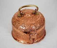 darlene posey | OLD COPPER | Antique Copper Caddy with Latch and Brass ... | Copper