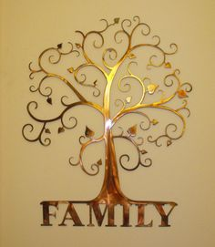 Custom Family Tree  Wall Art by MetalArchitect on Etsy, $65.00