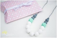 Elegant Silicone Teething Nursing Necklace - Little Sunshine Boutique Teething Necklaces - 1
