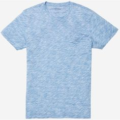 Bonobos Slub Pocket Tee (59 CAD) ❤ liked on Polyvore featuring men's fashion, men's clothing, men's shirts, men's t-shirts, light blue microstripe, mens crew neck t shirts, j crew mens shirts and mens pocket t shirts