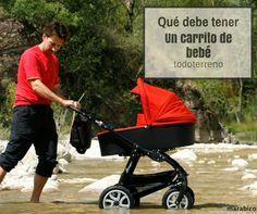 Que tiene que tener un cochecito de bebé todoterreno. What should be a all terrain stroller?