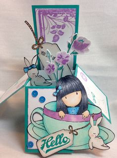 Love the Gorjuss girls from Santoro. This one made into a card in a box.
