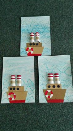 9 Best & Fun Transportation Crafts For Kids And Preschoolers Projects For Kids, Diy For Kids, Art Projects, Preschool Crafts, Crafts For Kids, Transportation Crafts, Ocean Crafts, Summer Crafts, Summer Art