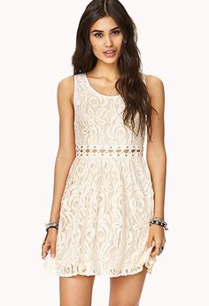 Edgy Lace Dress   FOREVER 21 - 2000052099. Not that edgy, but one could wear it almost anywhere.