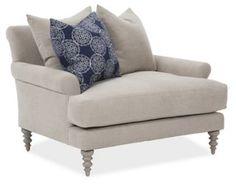 Elizabeth Chair-and-a-Half, Oatmeal