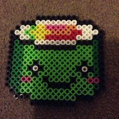 Kawaii sushi perler beads by perler_bead_ideas