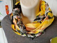 cute recycled tshirt scarf!