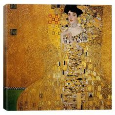 Print of Klimt's Portrait of Adele Bloch-Bauer I on canvas.   Product: Wall artConstruction Material: Cotton canvas and woodFeatures: Portrait Of Adele Bloch-Bauer I by Gustav Klimt