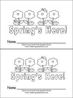 Spring is Here Emergent Reader- Preschool or Kindergarten: This emergent reader little book is a great way to celebrate the beginning of spring, while building important early reading skills! 1st Grade Science, Teaching First Grade, Preschool Literacy, Kindergarten Literacy, Reading Centers, Reading Skills, Spring Activities, Book Activities, Early Reading
