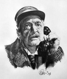 Hans Mosert (* 06.08.1880 in Wien; † 19.06.1964 Wien), eigentlich Johann Julier, fälschlich wird sehr oft auch Jean Julier oder sogar Jean Juliet als amtlicher Name genann, war ein österreichischer Volksschauspieler. | Quelle: https://de.wikipedia.org/wiki/Hans_Moser | Pin von #tinafee | Originalbild auf http://t1p.de/fineartamerica-hans-moser