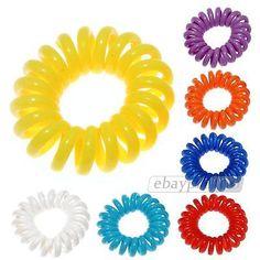 Telephone Line Hair Ring Ties Hairband Rope Ponytail Holder Elastic