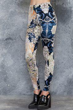 Mucha Black Leggings ($75AUD) by BlackMilk Clothing