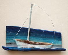 ombre painted driftwood , starry night and sail boat in nenanosalj's photostream