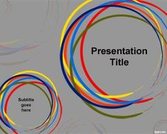 Free Color Circle PowerPoint template with gray background and circles in the slide design