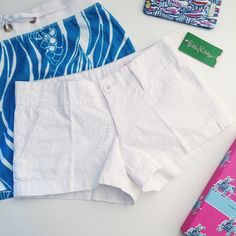 LILLY PULITZER The Walsh Short lilly pulitzer the walsh short  ⠀† multiple sizes available  ⠀† color/print: resort white lion in the sun pigment ⠀† zipper closure ⠀† feminine scallop hem detail ⠀† zip fly short with hook and bar closure ⠀† slant front pockets and back welt pockets ⠀† 100% cotton ⠀† new with tags  host pick!    ⠀4.20.16 › casual cool  disclaimer: ⠀✗ i do not trade ⠀✗ no lowballing Lilly Pulitzer Shorts