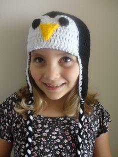 touca pinguim  produzida com lã antialérgica