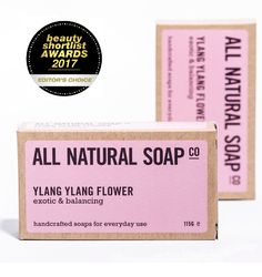 Super excited to announce that our Ylang Ylang Flower soap has just received an Editor's Choice award at the international Beauty Shortlist Awards!
