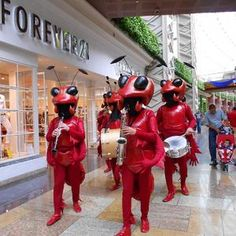 Hire our Ant orchestra for your next event. Our Ant drummers can be hired for events in London and the  UK.