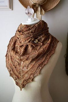 Muster stricken / Joyeux Lace Shawlette / DIY von phydeauxdesigns