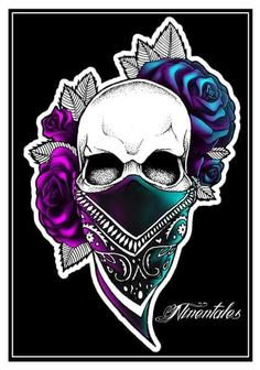 Gangster... Skull Tattoos, Body Art Tattoos, Tatoos, Sugar Skull Art, Sugar Skulls, Sugar Skull Drawings, Badass Skulls, Skull Pictures, Skull Artwork