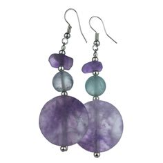 Afghan Fluorite Unity Earrings at The Animal Rescue Site