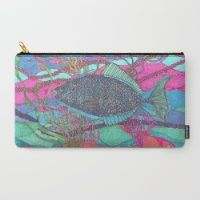 Design your everyday with carry-all-pouches you'll love. Store everything from makeup to iPads in pouches featuring designs from independent artists. Pouches, Carry On, Beach Mat, Outdoor Blanket, Fish, Blue, Hand Luggage, Carry On Luggage, Ichthys