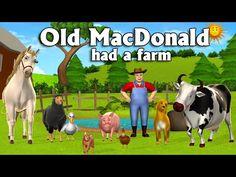 "Old MacDonald Had A Farm - Animation English Nursery rhymes & Songs for children with lyrics ""Old MacDonald Had A Farm Nursery Rhyme"" Lyrics: Old MacDonal. Nursery Rhymes Lyrics, Best Nursery Rhymes, Nursery Rhymes Songs, Easy Guitar Songs, Ukulele Songs, Farm Songs, Nursery Rhymes Collection, Rhymes Video, Alphabet Songs"