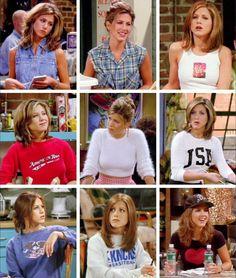Rachel Green looks Friends Moments, Friends Series, Friends Show, Friends Forever, Rachel Green Outfits, Rachel Green Style, Outfit Jeans, Tv Show Outfits, Cute Outfits