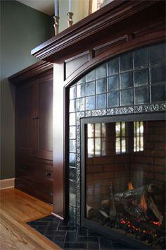 1000 images about craftsman style on pinterest arts for Prairie style fireplace