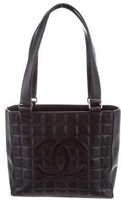Chanel Chocolate Bar Tote Cheap Designer Purses, Black Quilt, Chanel Handbags, Handbags On Sale, Lambskin Leather, Shoulder Bag, Bar, Tote Bag, Chocolate