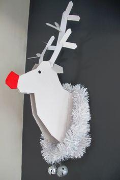 Ministry of Deco: Decoración de Navidad para hacer tú mismo: reno de cartón