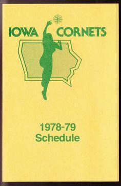 1978-79 IOWA CORNETS OFFICIAL WOMEN'S BASKETBALL POCKET SCHEDULE #SCHEDULE