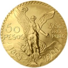 "Moneda de 50 pesos Oro ""Centenario"""