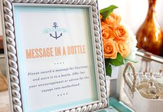 I like this idea except do it in one giant bottle. I know we have pretty glass bottles we found with dad growing up