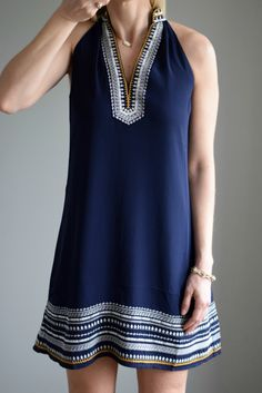 Stitch Fix April THML Chana Embroidered Dress Great style - any colors other than navy? Cute Dresses, Casual Dresses, Cute Outfits, Summer Dresses, Trendy Dresses, Short Dresses, Fix Clothing, Stitch Fix Outfits, Estilo Retro