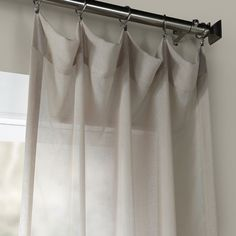 Shop Exclusive Fabrics Tumbleweed Faux Linen Sheer Curtain Panel - On Sale - Overstock - 7179785 - Tumbleweed - 50 X 84 Sheer Linen Curtains, Mattress Furniture, Brown Curtains, Sheer Curtain, Drapes Curtains, Curtains, Sheer Curtain Panels, Curtain Styles, Furnishings