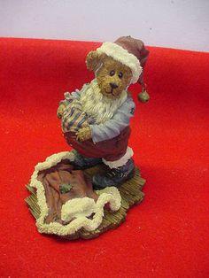 Boyds Bears Bearstone collection S. Kringlebeary - Santa Wannabe  # 83015