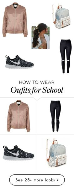 """""""School"""" by riahnicole-1 on Polyvore featuring River Island, NIKE and Red Camel"""