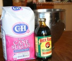 Make your own brown sugar. I never thought about this myself, but I did know it was only two ingredients. Sugar and molasses.