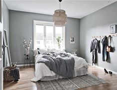 36 Stunning Modern Scandinavian Bedroom Design And Decor Ideas - Popy Home Scandinavian Bedroom Decor, Scandinavian Apartment, Home Decor Bedroom, Modern Bedroom, Bedroom Furniture, Bedroom Ideas, Bedroom Designs, Bedroom Inspiration, Scandinavian Bedroom Design