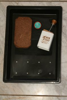Plunter Kit, includes a Plunter, instructions, water spout for a 2l recycled cold drink bottle, a dehydrated coir block, seedling tray and tray liner Water Spout, Coir, Cold Drinks, Organic Gardening, Drink Bottles, Recycling, Tray, Ice Cream, Desserts