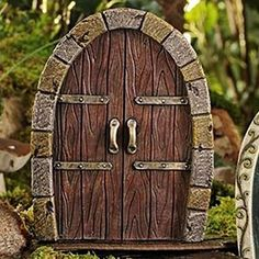 Fairy Door Brown Oval with Stones, a HOME & GARDEN by BANGLES AND BAGS - Bangles And Bags