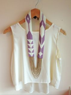 top + statement necklace.