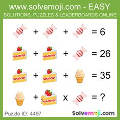Solvemoji - Free teaching resources - Emoji math puzzle, great as a primary math starter, or to give your brain an emoji game workout. Math Games For Kids, Fun Math, Picture Puzzles Brain Teasers, Reto Mental, Best Brain Teasers, Mental Maths Worksheets, Math Talk, Math Challenge, Logic Puzzles