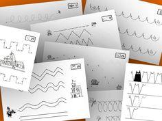 Freiarbeitsmaterial Grundschule - Schwungübungen - Grundschulmaterial kostenlos