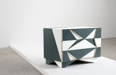 Chest of Drawers.by Martino Gamper. i do not over like him, but he is so great with geometry and colours' combination