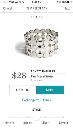 Stitch fix Bay to baubles bracelet. I love Stitch Fix! A personalized styling service and it's amazing!! Simply fill out a style profile with sizing and preferences. Then your very own stylist selects 5 pieces to send to you to try out at home. Keep what you love and return what you don't. Only a $20 fee which is also applied to anything you keep. Plus, if you keep all 5 pieces you get 25% off! Free shipping both ways. Schedule your first fix using the link below! #stitchfix @stitchfix…